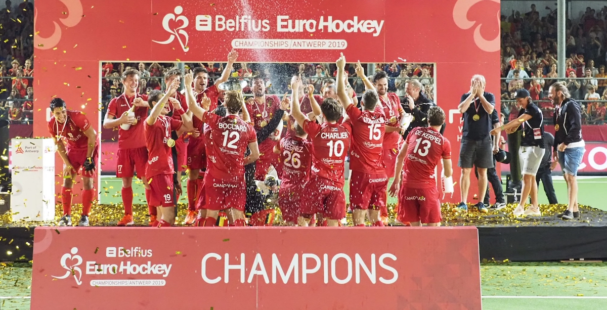 Belgie wordt Europees kampioen door Spanje in de finale te verslaan