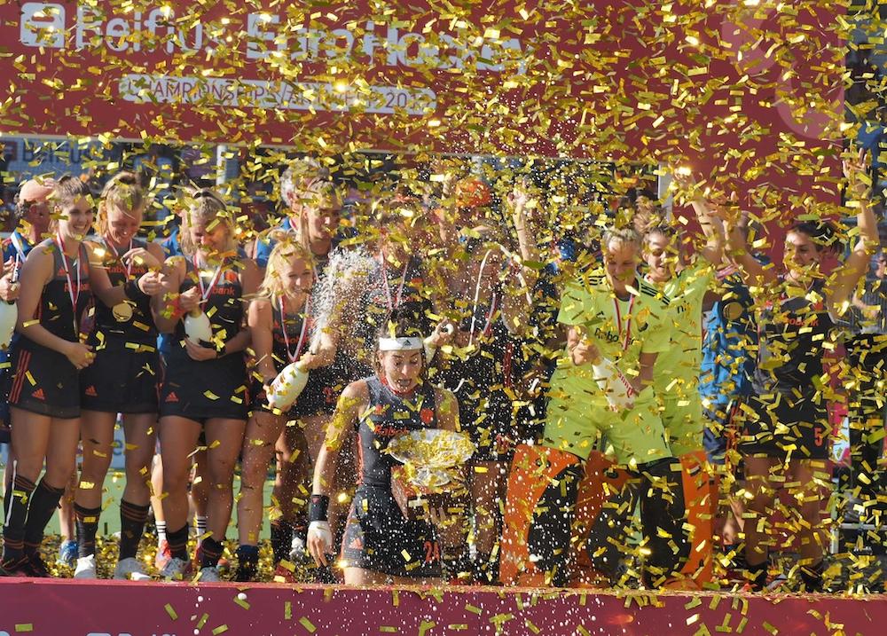 Het Nederlandse damesteam wint de tiende Europese titel
