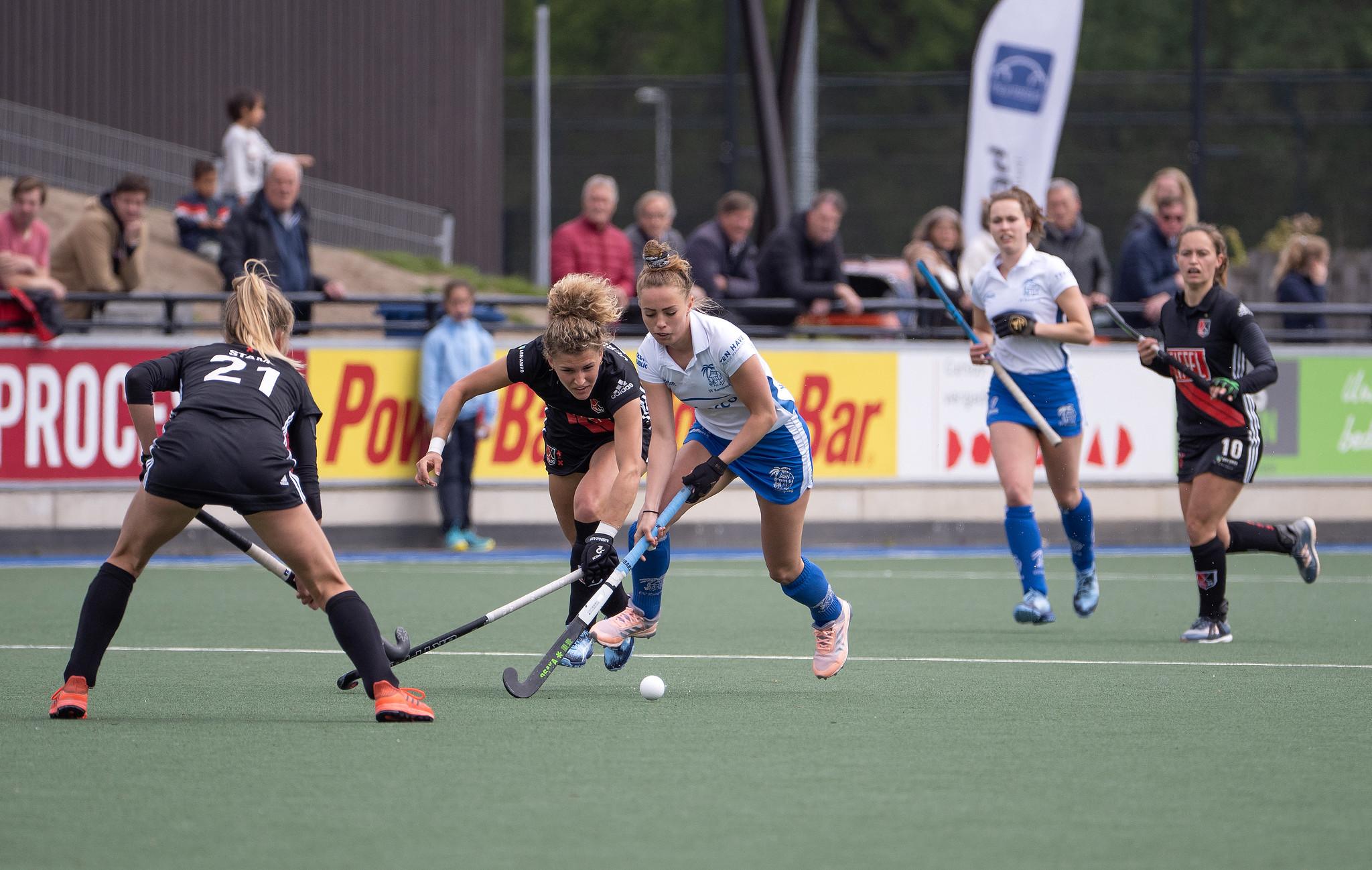 Pam Imhof werkt hard om zich in de kijker te spelen bij Oranje