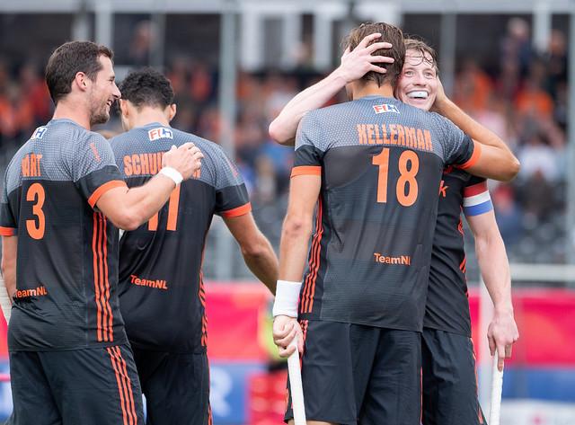 De Nederlandse mannen boeken een belangrijke overwinning op aartsrivaal Duitsland