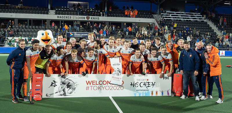 De Nederlandse heren plaatsen zich voor de Olympische Spelen in Tokio.