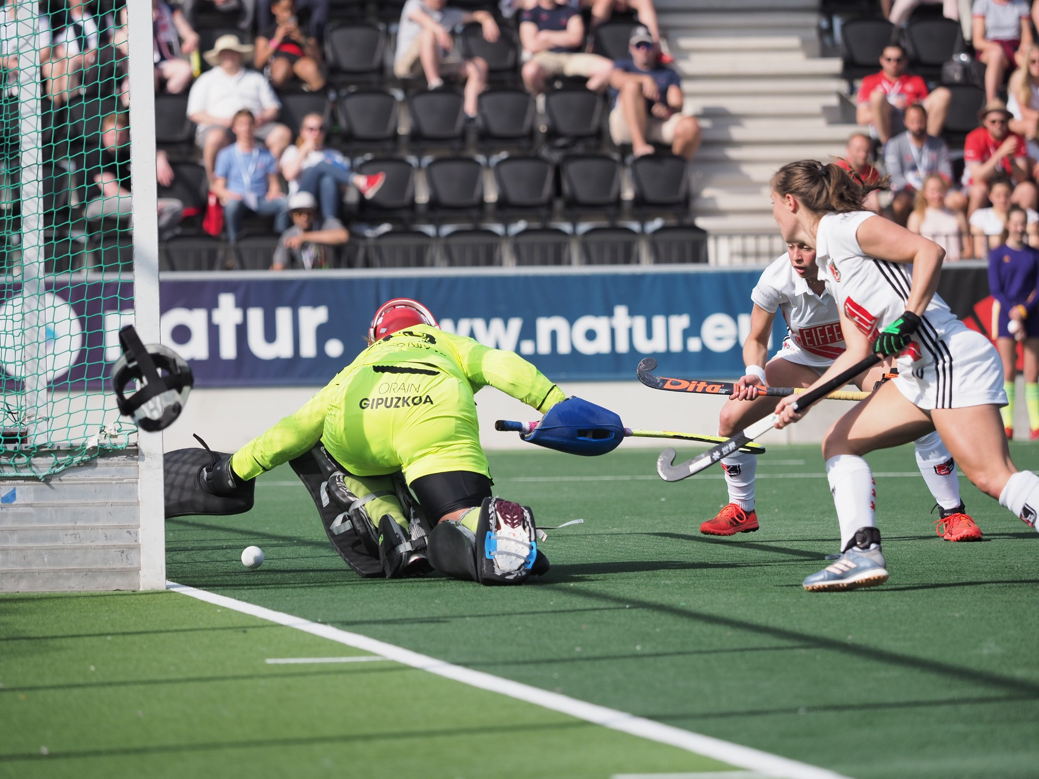 Finale Europa Cup Dames: Amsterdam - Real Sociedad (Eindstand 7 - 0)