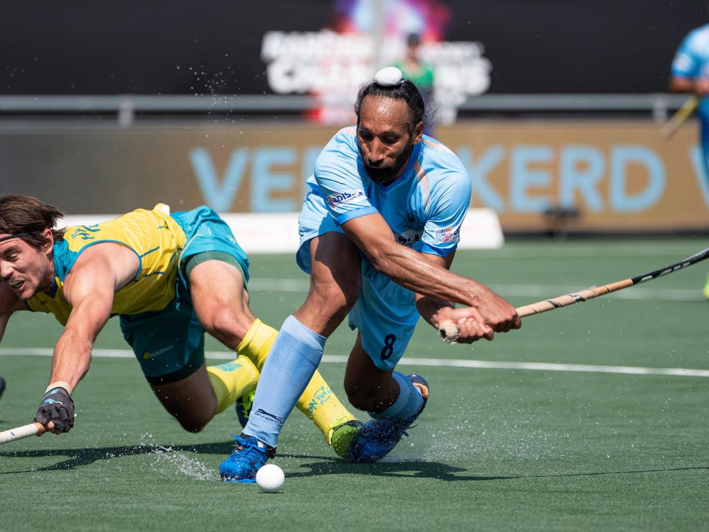 Champions Trophy foto's (H): India-Australië 2-3