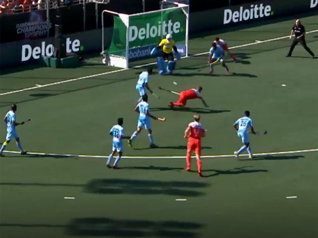 Champions Trophy samenvatting (H): Nederland-India 1-1