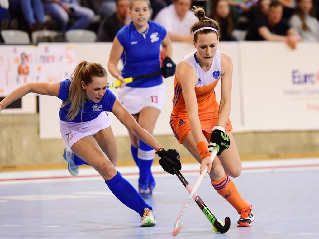 EK Zaal video (D): Doelpunten Nederland-Tsjechië (6-3)