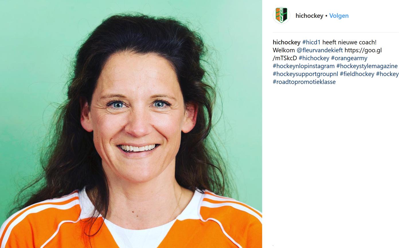 OVK (D): Fleur van de Kieft nieuwe coach HIC