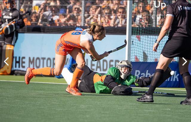 Marijn Veen is erg blij met de overwinning op Australië en de eerste Pro League titel