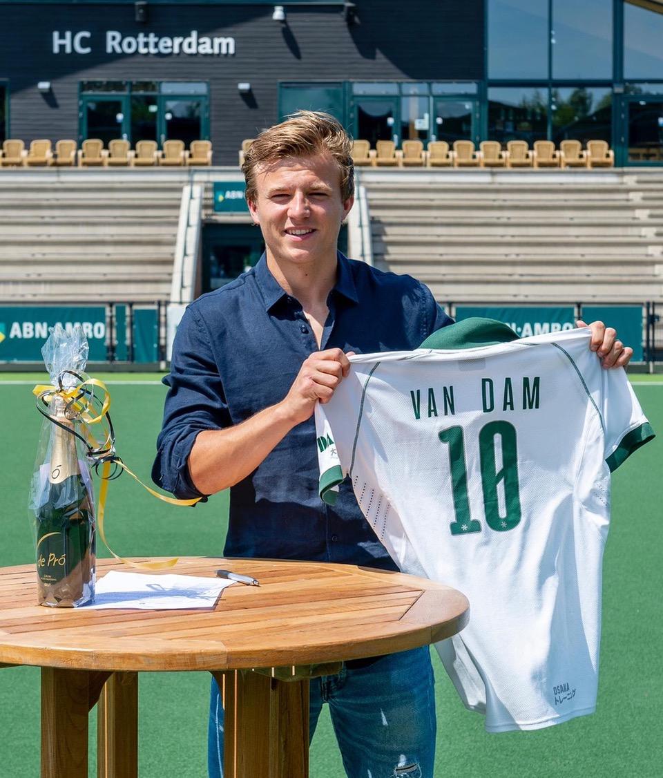Thijs van Dam verlengt contract bij HC Rotterdam