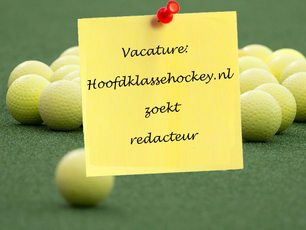 Vacature: Hoofdklassehockey.nl zoekt redacteur