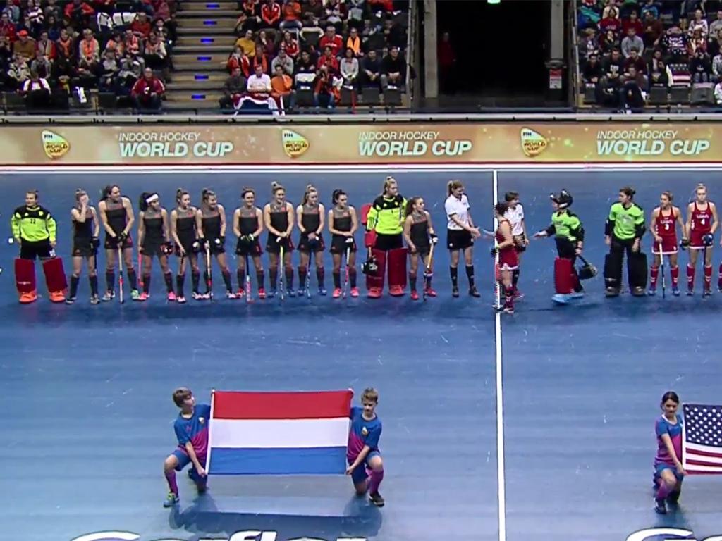 WK Zaal video (D): Nederland-Verenigde Staten (8-4)
