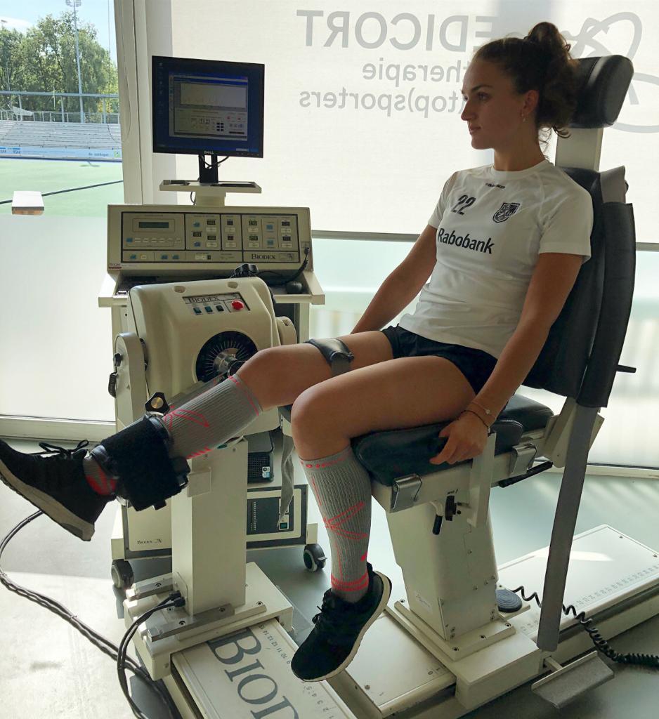 Roos Knijff: 'De revalidatie van een voorste kruisband is een leuke blessure'