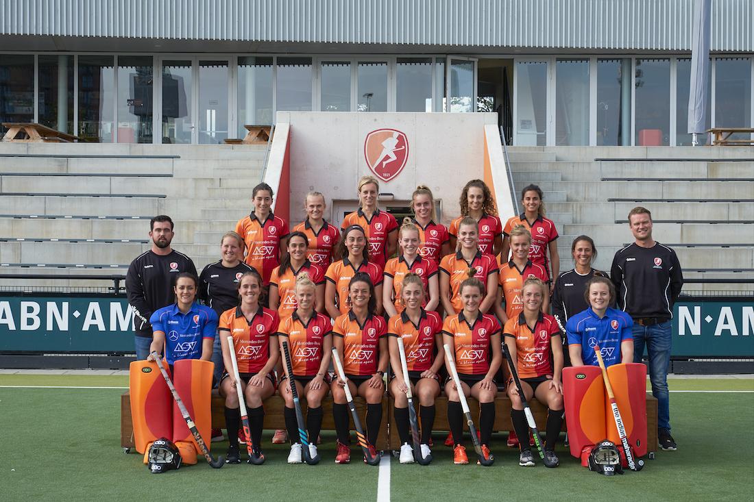 Spelerlijst dames Oranje-Rood 2019-2020