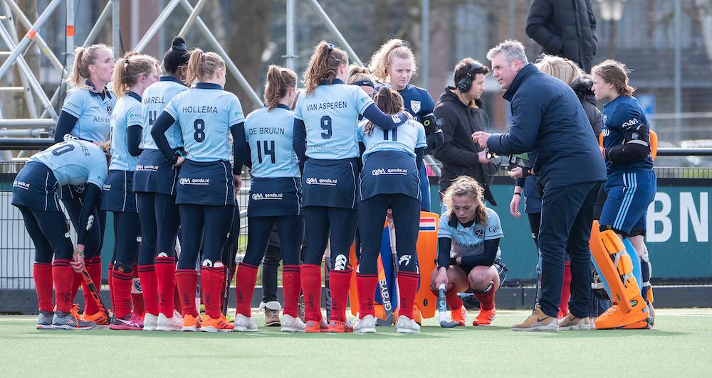 Marc Materek vertrekt na een seizoen alweer als coach van Laren. Foto: Roel Ubels